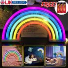 Rainbow Neon Sign Colorful LED Night Light Wall Lamps For Kid Children Room Gift