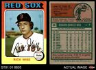 1975 Topps #56 Rick Wise Red Sox 4 - VG/EXBaseball Cards - 213