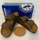 BIRKENSTOCK Arizona Birko-Flor Suede Sandals DRK BROWN Women's Unisex NEW in Box
