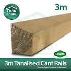 **PACK OF 5** (10FT) 3m Cant Rail Pressure Treated Tanalised Timber