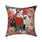 Frenchie Floral French Bulldog Throw Pillow Cover w Optional Insert by Roostery