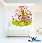 Animal Zoo Wall Sticker Children Bedroom Living Room Lounge Decal Decoration Art