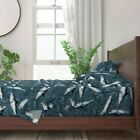 Great White Sharks Shark Underwater 100% Cotton Sateen Sheet Set by Roostery
