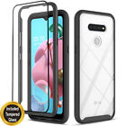 For LG K51 Case, Transparent Drop Proof  Cover + Tempered Glass Protector