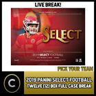 2019 PANINI SELECT FOOTBALL 12 BOX (FULL CASE) BREAK #F475 - PICK YOUR TEAM $56.0 CAD on eBay