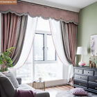 high-grade velvet Nordic dirty pink cloth blackout curtain valance panel C210