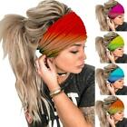 Elegant Solid Cotton Soft Headband For Women Elastic Hair Bands Turban
