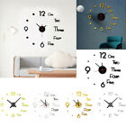 DIY Large Wall Clock Big Watch Decal 3D Stickers Roman Numerals Modern Decor USA