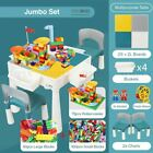 Truboo Building Blocks Kids Table and Chairs Set Toy Bricks Activity Play Ba