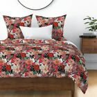 Frenchie Floral French Bulldog Dog Lover' Novelty Sateen Duvet Cover by Roostery