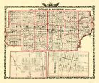 Richland Lawrence Counties Illinois - Warner 1870 - 23.00 x 27.54
