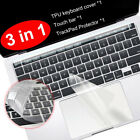 Clear Touch bar Keyboard Cover TrackPad Screen Protector for MacBook Pro 16 2019