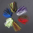 Bundles 50 Strands Silicone Skirts Fishing Rubber Jig Lure Mixed W/ Colors E3q3