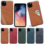 For Iphone 11 Pro Max Xs Xr Huawei P30 Leather Flip Stand Card Slot Cover Case