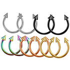 1pc Horseshoe Spike Body Ring Hoop Nipple Nose Septum Tragus Eyebrow Piercing