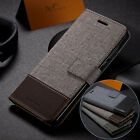 For iPhone XS Max/XS/XR/X/6 7 8 Plus Luxury Canvas Card Holder Wallet Case Cover