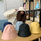 New Fashion Korea Bucket Hats Women Solid Color Headwear Sun Hat Fisherman Cap