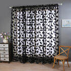 Window Curtains Door Floral Tulle Voile Room Balcony Sheer Panel Curtains Decor