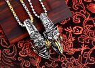 Mysterious Chinese Myth Black & White Impermanence Devil Skull Pendant Jewelry
