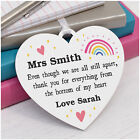 Lockdown Teacher Assistant Thank You Gifts PERSONALISED Rainbow Nursery Gifts