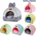 Pet Tent Cat Dog House Bed Kennel Puppy Portable Folding Teepee Soft Mat Warm