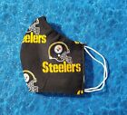 Washable Handmade Fabric Face Mask filter pocket NFL PITTSBURGH STEELERS