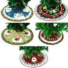 36in Round Christmas Tree Skirts Ornament Floor Cover Xmas Party Home Decors New