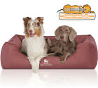 Knuffelwuff Velour Water-Repellent Orthopaedic Dog Bed with Hand-Woven Material