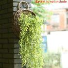 Artificial hanging plant ivy wreath fake vine plant wisteria flower leaf S7T5