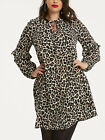 Simply Be Black Leopard Print Romantic Frill Sleeve Dress in Sizes 22 or 26