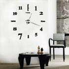 HK- BE_ Universal Large Wall Clock Big Watch Decal 3D Stickers Diy Wall Home Dec