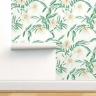 Peel-and-Stick Removable Wallpaper Texture Woven Lily Tigerlily Flower