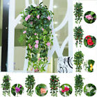 Artificial Fake Hanging Flowers Vine Plant Home Garden Indoor Outdoor Decor