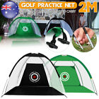 2M Golf Practice Driving Hit Net Cage Training &Cutting Hole Indoor / outdoor AU