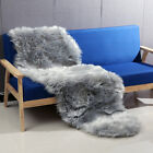 190*70CM Rectangle Sheepskin Rug Artificial Wool Soft for Chair Sofa Bedroom