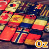 Stone-washed National Flag Case for Oukitel C16 Pro, Painted Cover Retro