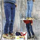 """1/6 Ripped  Distressed Jeans slim for 12"""" male figure hot toys phicen  USA"""