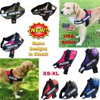 Adjustable Service Dog Harness Vest Patches Reflective Small Large Medium XS-XL