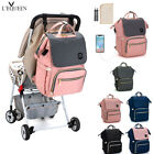 LEQUEEN USB USB Nappy Backpack Baby Diaper ChangingPad Stroller Hook Large Bag