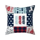 Fire Truck Fire Engine Axe Throw Pillow Cover w Optional Insert by Roostery