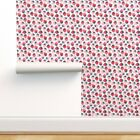 Removable Water-Activated Wallpaper Strawberry Fruit Kitchen Kids Home-Decor