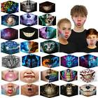 Face Mask 3d Face Cover Washable Reusable Outdoor Protection Joker Skull Rose