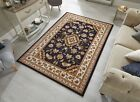 SHERBORNE TRADITIONAL ORIENTAL CLASSIC DARK BLUE SMALL LARGE RUG, RUNNER CIRCLE