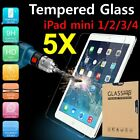 5Pcs 9H 0.33mm Tempered GLASS Screen Protector Film For Apple iPad Mini 1 2 3 4