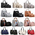 Women's Pu Leather Tote Purse Handbags Set Satchel Shoulder Crossbody Bag Wallet