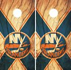 New York Islanders Cornhole Skin Wrap NHL Hockey Custom Wood Decor Vinyl DR139 $39.99 USD on eBay