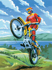 """Junior Small Paint By Number Kit 8.75""""X11.75""""-Motocross"""