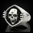 Fashion Skull 925 Silver Rings For Men/women Party Rings Free Shipping Size 6-10