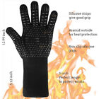 Multi-Purpose Fireproof BBQ Grill Gloves Indoor Outdoor Use For Men & Women Blac