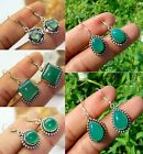 Natural Green Onyx Gemstone Earrings 925 Sterling Silver Plated Wholesale Lot